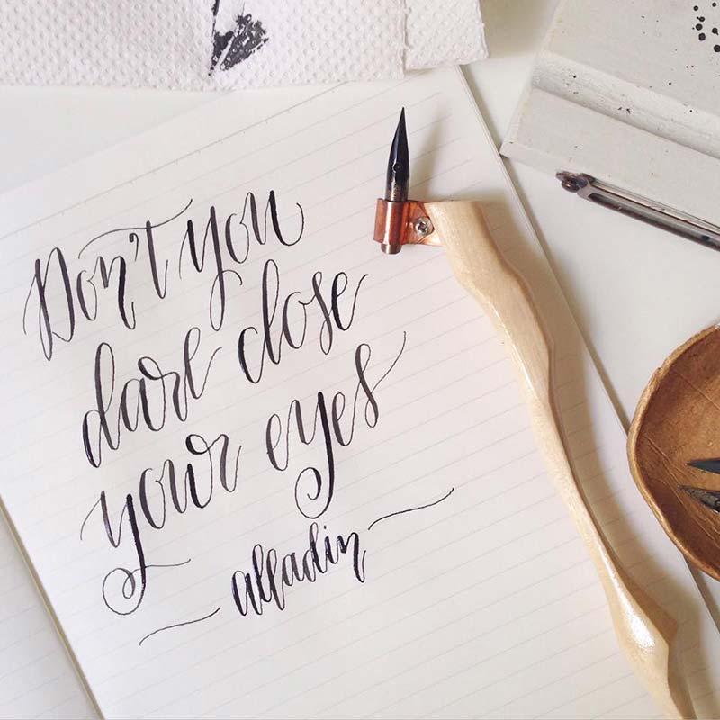 Modern calligraphy coffeemin