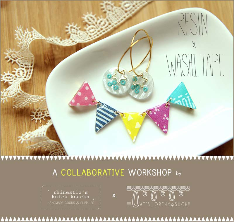Resin and washi tape